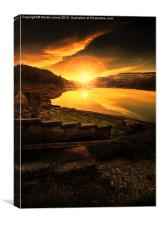 Last Light in the Valley, Canvas Print