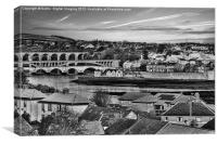 Rooftops of Berwick, Canvas Print