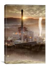 Hope Cement Works , Canvas Print