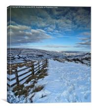 Mam Tor in the Snow, Canvas Print