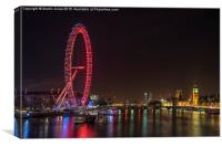 The London Eye and County Hall, Canvas Print