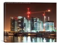 The Cranes of Battersea, Canvas Print