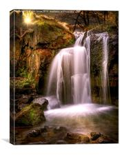 Evening over The Falls at Lumsdale, Canvas Print