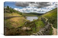 Kinder Reservoir from Williams Clough, Canvas Print