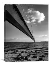 Bridge over the river Humber, Canvas Print