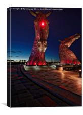 The Kelpies , Canvas Print