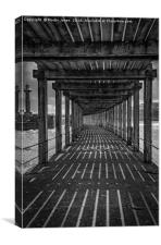Under the Board Walk Down by the Sea, Canvas Print
