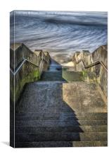 Concrete and Steel by the Sea, Canvas Print
