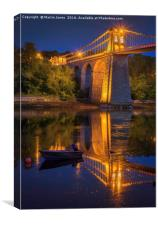Menai Reflections, Canvas Print