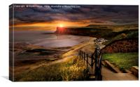 The Cliffs of Saltburn, Canvas Print