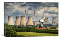 Trent Valley Power - A Century Apart, Canvas Print