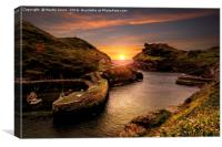 Last Light at Boscastle Cove, Canvas Print