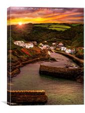 Dawn over Boscastle, Canvas Print