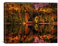 Autumnal afternoon in the Peak District, Canvas Print