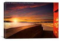Berwick Breakwater Sunset, Canvas Print