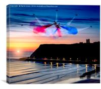 Red Dawn over Scarborough, Canvas Print