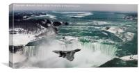 Vulcan XL384 Over Niagara, Canvas Print