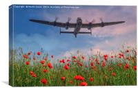 Lancaster Fly Over, Canvas Print
