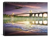 Vulcan over the Menai Straits, Canvas Print