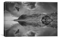 Vulcan over Scarborough - Armed Forces Day, Canvas Print