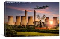 Vulcan XH558 in the Trent Valley, Canvas Print
