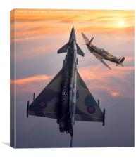 Typhoon & Spitfire Synchro-Pair Display Team, Canvas Print