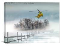 Sea King over the Anglesey Mists, Canvas Print
