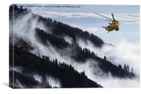 Royal Air Force Sea King Seeking, Canvas Print