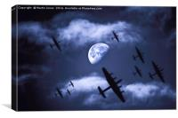 Lancaster Bombers Moon, Canvas Print