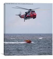 Sea King and RNLI Rescue, Canvas Print