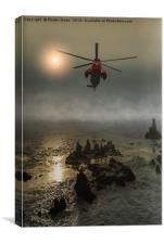 Sea King Rescue Dawn, Canvas Print