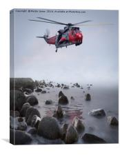 Royal Navy Search and Rescue Training, Canvas Print