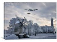 Lancasters Over The Snows of Holland, Canvas Print