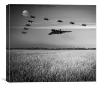 Red Arrows and The Delta Vee, Canvas Print