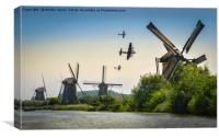 BBMF Over the Windmills Of Holland, Canvas Print