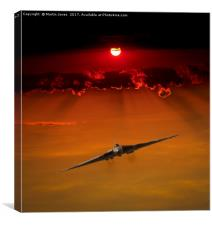 Lone Vulcan Sunset, Canvas Print