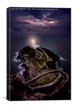 Lightning over South Stack, Canvas Print