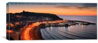 Dawn Over the South Bay - Scarborough, Canvas Print