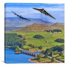 Avro Thunder in the Valley, Canvas Print