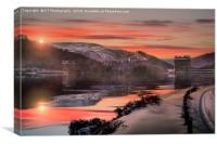 Winter over the Derwent Dam, Canvas Print