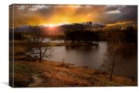 Last light at Tarn Hows in the Lake District, Canvas Print