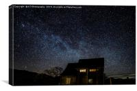 The Milky Way at Pier Cottage, Coniston., Canvas Print