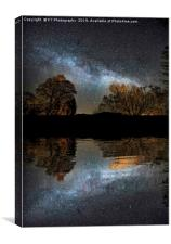 The Milky Way from Waterhead Pier, Coniston Water, Canvas Print