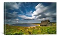 Grimwith Reservoir Panoramic, Canvas Print