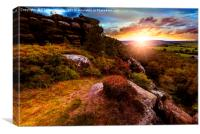 Sunset over Nidderdale, North Yorkshire, Canvas Print