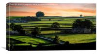 The Dry Stone Walls of Nidderdale, Canvas Print