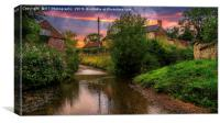 The Ford at Thirlby, North Yorkshire., Canvas Print