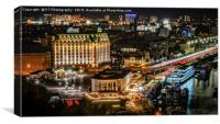 Kiev by Night, Canvas Print