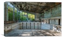 The Azure Swimming Pool, Chernobyl Exclusion Zone, Canvas Print