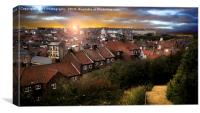 Dawn over Whitby, Canvas Print